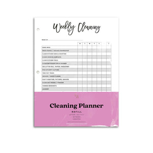 printed cleaning planner inserts