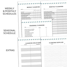 Load image into Gallery viewer, cleaning planner printable