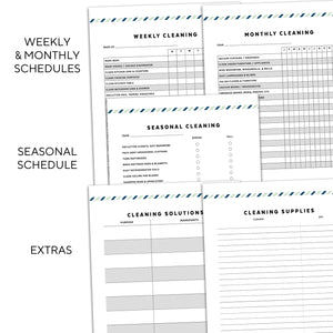 cleaning planner printable