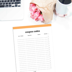 Coupon Code Tracker | Classic-Rings and Disc Planner-Confetti Saturday