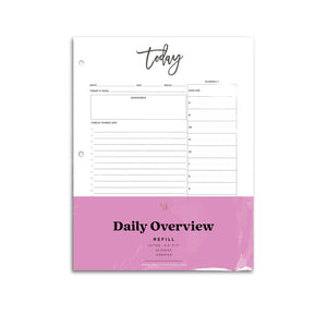 Daily Planner Inserts Detail | City