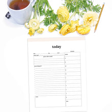 Load image into Gallery viewer, Daily Planner Summary | Classic-Rings and Disc Planner-Confetti Saturday