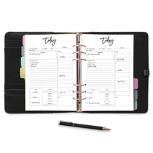 Load image into Gallery viewer, daily planner Confetti Saturday A La Carte, A4, A5, A6 Rings, Arc, B5, Big Happy Planner, Black and White, Circa, City, Classic Happy Planner, Daily, Discs, Filofax, Half Sheet, Happy Planner, Inserts, Junior Discs, Large Discs, Letter, Mini Binder, Mini Happy Planner, Pages, Personal, Planner Pages, Planner Refill Pages, Pocket Rings, Printable, Printed, Refill, Rings, To Do List, Tul, Undated