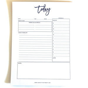 Daily Planner Notepad