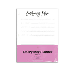 Emergency Planner Inserts | City