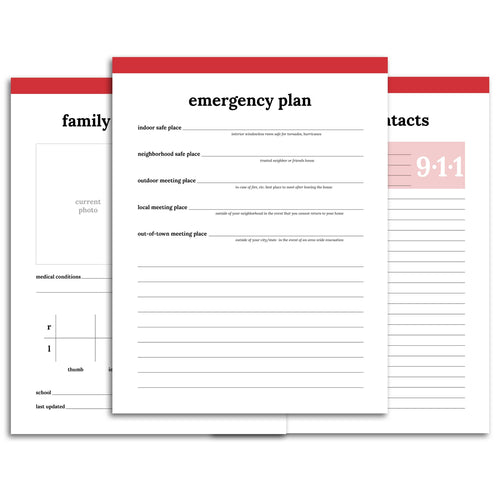 Emergency Planner | Classic-Rings and Disc Planner-Confetti Saturday
