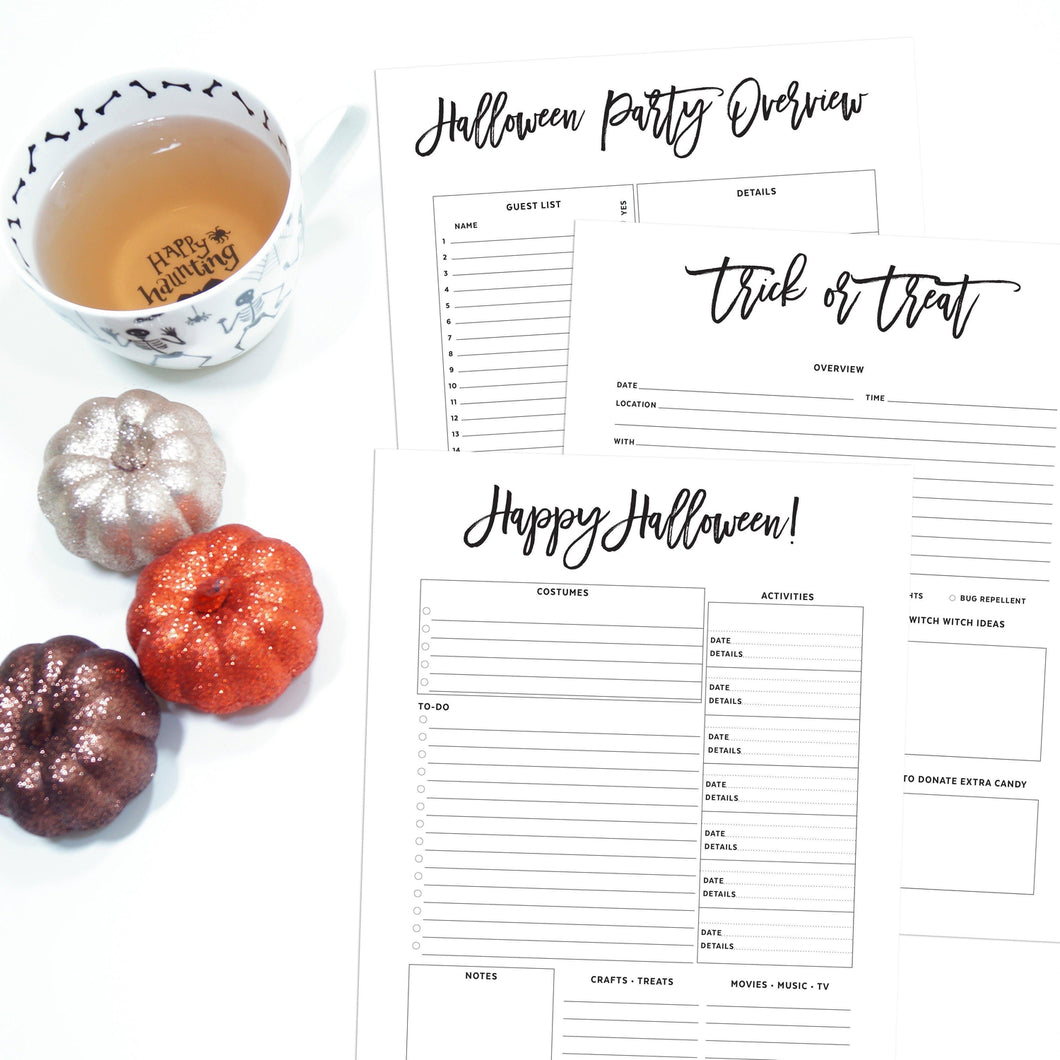 Halloween Planner Inserts | City