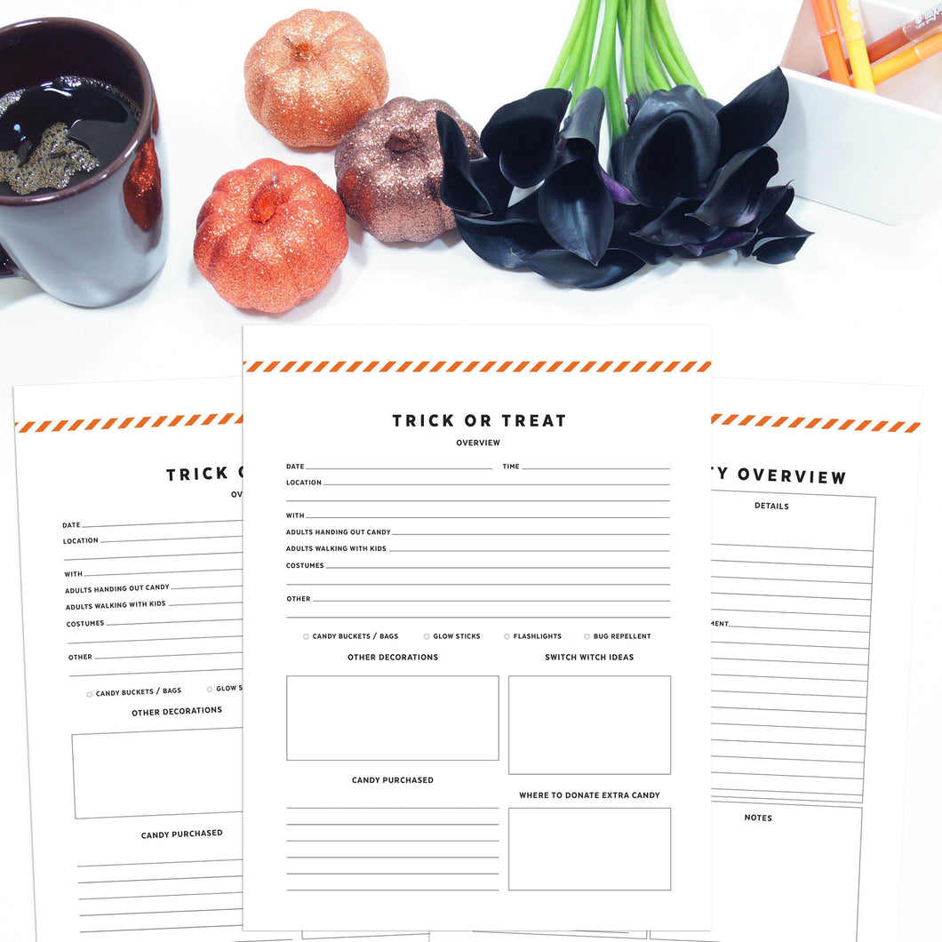 Halloween Planner | Signature Stripe