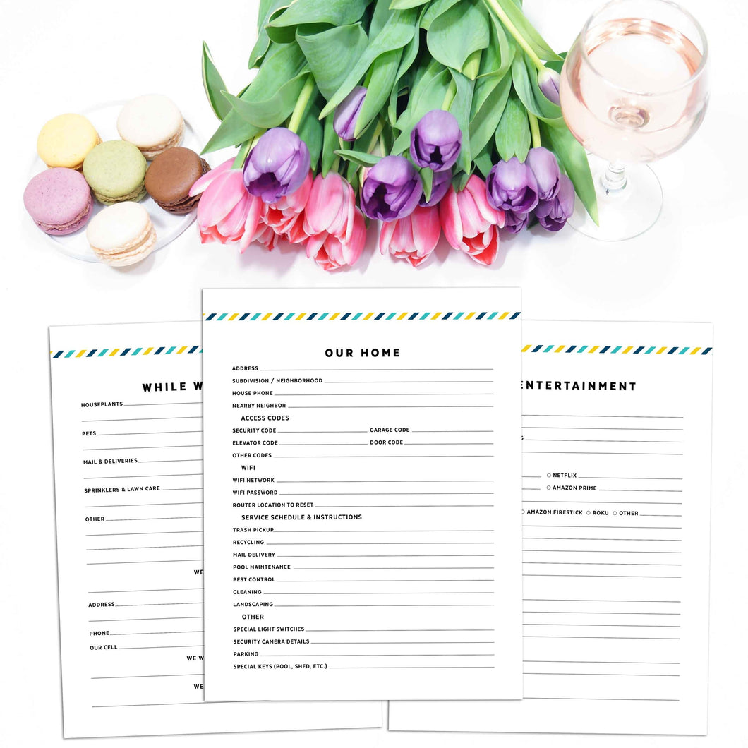 House Sitter Planner | Signature Stripe