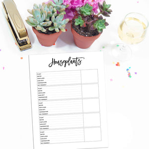 Houseplant Planner Page | City