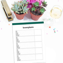 Load image into Gallery viewer, Houseplant Planner Page | Classic-Rings and Disc Planner-Confetti Saturday