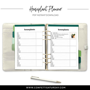 Houseplant Planner Pages-Confetti Saturday