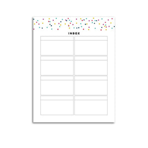 Inbox List Page | Signature Confetti-Rings and Disc Planner-Confetti Saturday