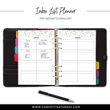 Load image into Gallery viewer, Inbox List Planner Refill Printable-Confetti Saturday