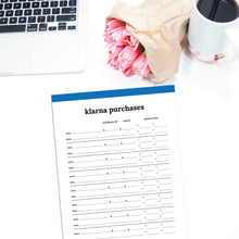 Load image into Gallery viewer, Klarna Purchase Tracker | Classic-Rings and Disc Planner-Confetti Saturday