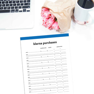 Klarna Purchase Tracker | Classic-Rings and Disc Planner-Confetti Saturday