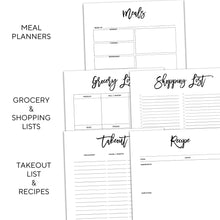 Load image into Gallery viewer, Meal Planner Inserts | City