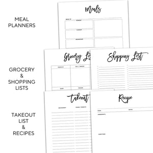 Meal Planner Inserts | City