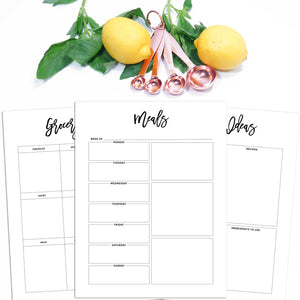 meal planner pages