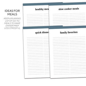 Meal Planner | Classic-Rings and Disc Planner-Confetti Saturday