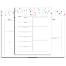 Load image into Gallery viewer, Printable-Meal Planner | Signature Confetti-Rings and Disc Planner-Confetti Saturday