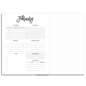 Monthly Overview Planner-Confetti Saturday