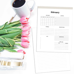 Monthly Overview Planner | Classic-Rings and Disc Planner-Confetti Saturday