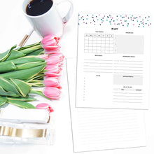 Load image into Gallery viewer, Monthly Overview Planner | Signature Confetti