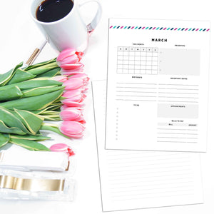 Monthly Overview Planner | Signature Stripe