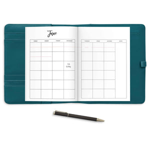 Monthly Planner Travelers Notebook Insert, Undated-Confetti Saturday
