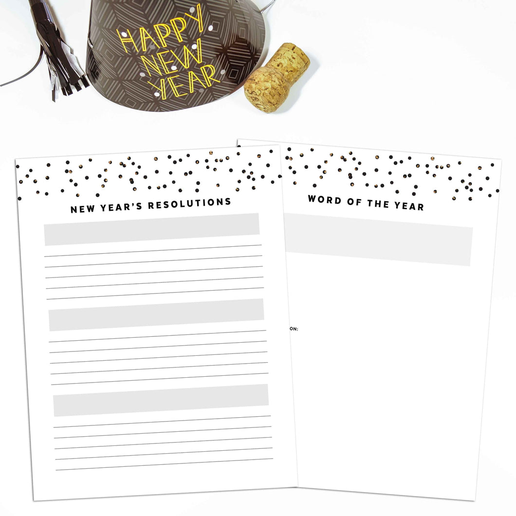 New Year's Resolutions Planner | Signature Confetti