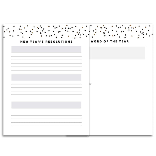 Printable-New Year's Resolutions Planner | Signature Confetti-Rings and Disc Planner-Confetti Saturday