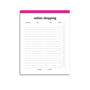 Online Shopping Tracker | Classic-Rings and Disc Planner-Confetti Saturday