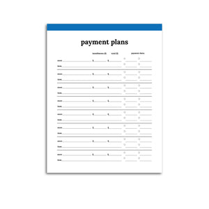 Payment Plan Tracker | Classic-Rings and Disc Planner-Confetti Saturday