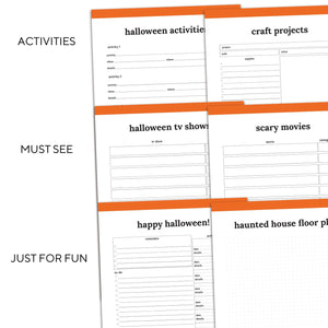 Halloween Planner | Classic-Rings and Disc Planner-Confetti Saturday