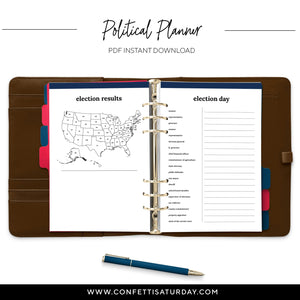 Political Planner-Confetti Saturday