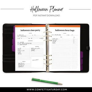 Halloween Planner Inserts-Confetti Saturday