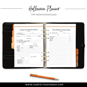 Halloween Printable Planner Refill-Confetti Saturday