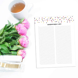 Shopping List | Signature Confetti