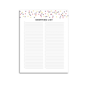 Printable-Shopping List | Signature Confetti-Rings and Disc Planner-Confetti Saturday