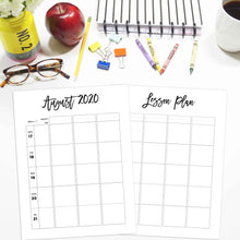 Load image into Gallery viewer, 2020-2021 Teacher Planner Inserts, Horizontal | City