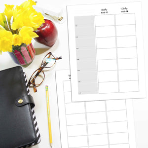 2020-2021 Teacher Planner Inserts, Vertical | City