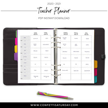 Load image into Gallery viewer, 2020-2021 Teacher Planner Inserts, Vertical | City
