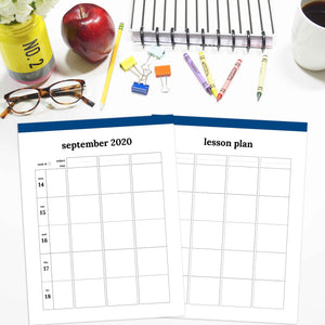 2020-2021 Teacher Planner, Horizontal | Classic-Rings and Disc Planner-Confetti Saturday