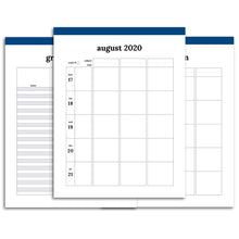 Load image into Gallery viewer, 2020-2021 Teacher Planner, Horizontal | Classic-Rings and Disc Planner-Confetti Saturday