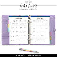 Load image into Gallery viewer, Teacher Lesson Planner-Confetti Saturday