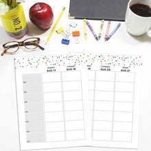 Load image into Gallery viewer, 2020-2021 Teacher Planner, Vertical | Signature Confetti