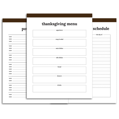 Thanksgiving Planner | Classic-Rings and Disc Planner-Confetti Saturday