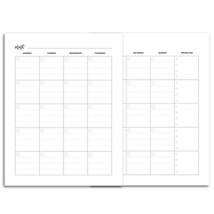Monthly Priorities Planner, Undated | City
