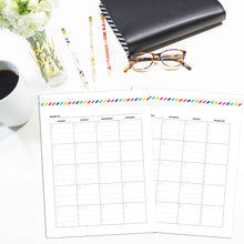 Load image into Gallery viewer, Monthly Priorities Planner, Undated | Signature Stripe